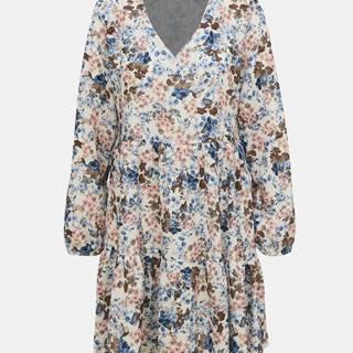 Krémové kvetované šaty Haily´s