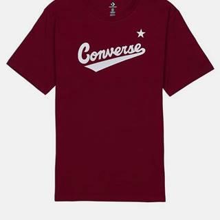 Vínové pánske tričko Converse