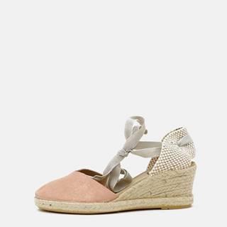 Ružové kožené sandálky OJJU