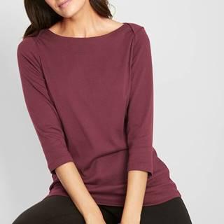 Tričko, bavlnené, s lodičkovým výstrihom