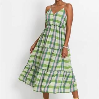 Midi šaty s gombíkovou légou