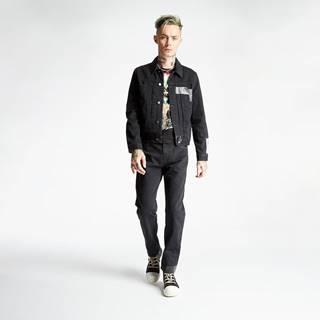 Alexander MacQueen Taped Slim Fit Jeans Black