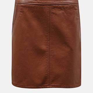 Hnedá koženková sukňa Dorothy Perkins