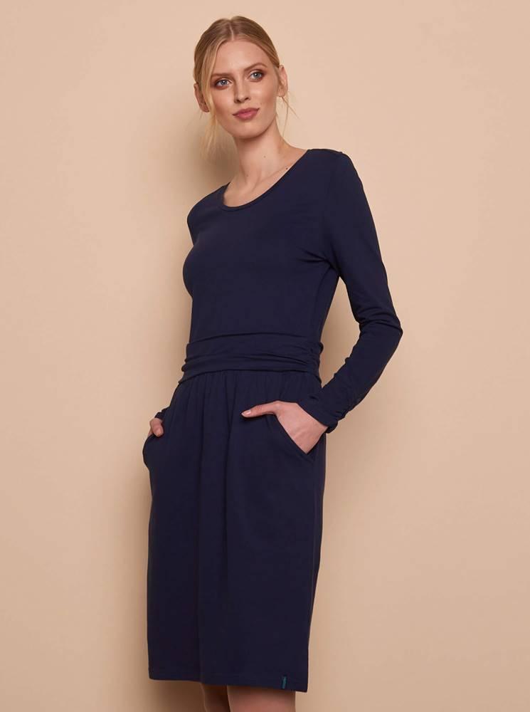 Tmavomodré šaty Tranquillo