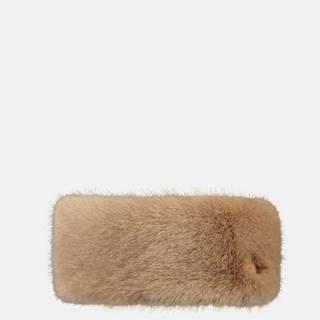 Hnedá dámska čelenka z umelého kožúšku Barts