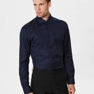 Tmavomodrá formálna slim fit košeľa Selected Homme One New