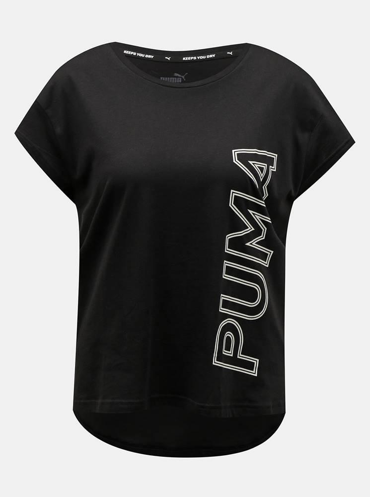 Čierne dámske tričko s potlačou Puma