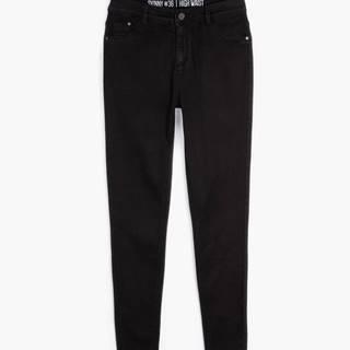 Základné džínsy skinny s vysokým pásom