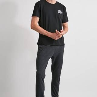 Tmavošedé pánske pyžamové nohavice Trendyol