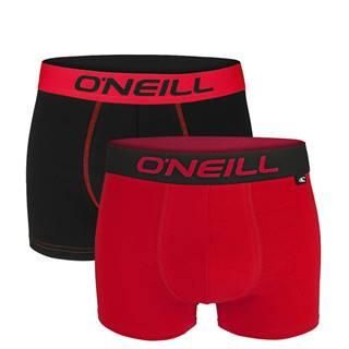 O'NEILL - 2PACK black & red boxerky z organickej bavlny-M (82-88 cm)