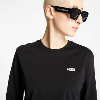 Junior V Longsleeve Cropped Top Black/ White