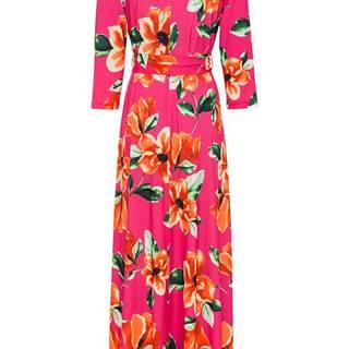 Maxi šaty s kvetavanou potlačou
