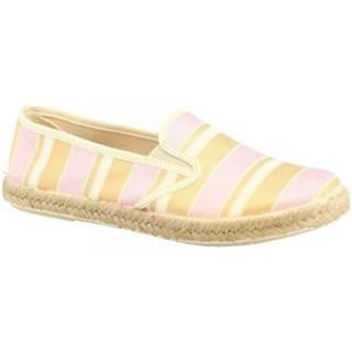 Espadrilky Leonardo Shoes  5012 BANAEIRA ROSA