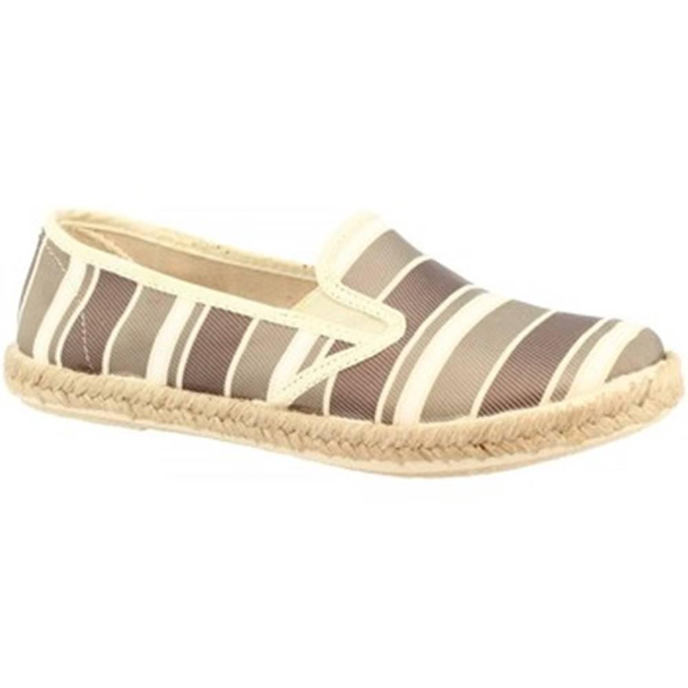 Espadrilky Leonardo Shoes  5012 BANAEIRA TAUPE