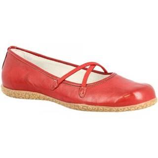 Balerínky/Babies Leonardo Shoes  252 ROSSO