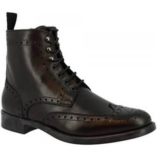 Polokozačky Leonardo Shoes  248-4957I CALF NERO