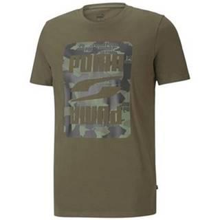 Tričká s krátkym rukávom Puma  Rebel Camo Graphic Tee