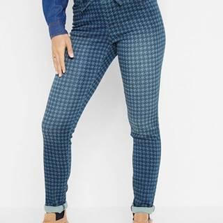 Džínsové joggingové nohavice, vzorované