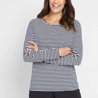 Tričko s dlhým rukávom, okrúhly výstrih, pásikované
