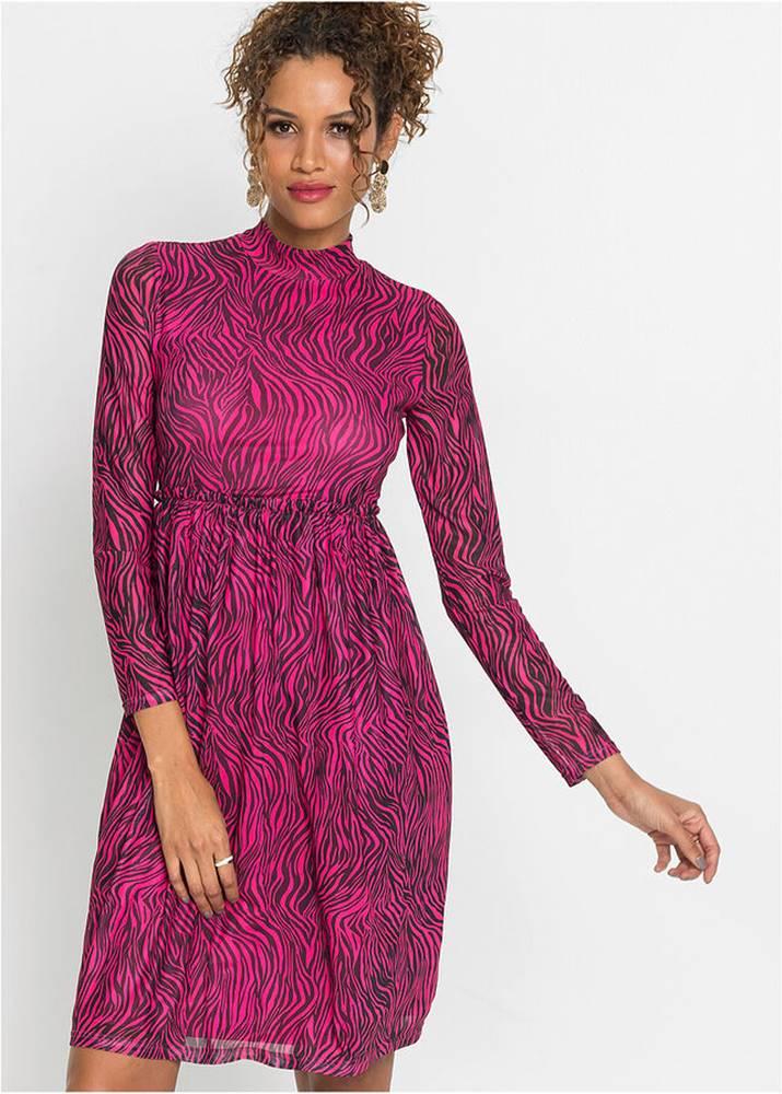 Šaty so zebra vzorom