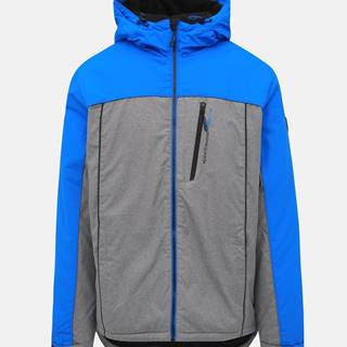 Modro-šedá pánska nepromokavá zimná bunda SAM 73