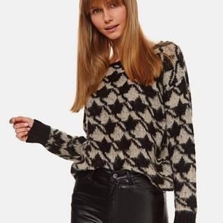 Čierno-béžový sveter TOP SECRET