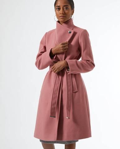 Ružový zimný kabát Dorothy Perkins Petite