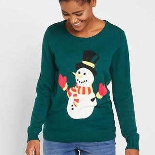 """Pulóver, vianočný motív """"Snehuliak"""""""