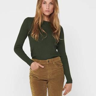 Tmavozelený sveter ONLY Natalia
