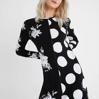 Desigual čierne šaty Vest Mixras