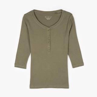 Základné bavlnené tričko s gombíkmi