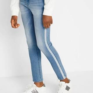 Skinny džínsy s bočnými pásikmi