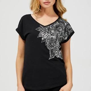 Moodo čierne tričko s potlačou