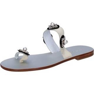 Sandále Eddy Daniele  sandali beige camoscio swarovski aw467