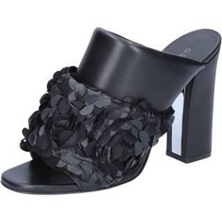 Sandále Greymer  sandali nero pelle BZ199