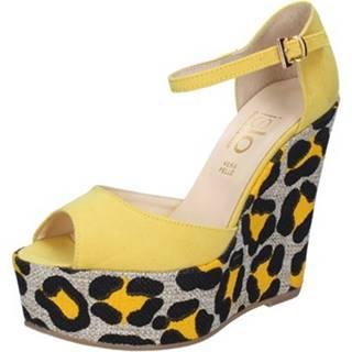 Sandále Islo  sandali giallo camoscio BZ221
