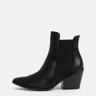 Čierne členkové topánky VERO MODA Jess
