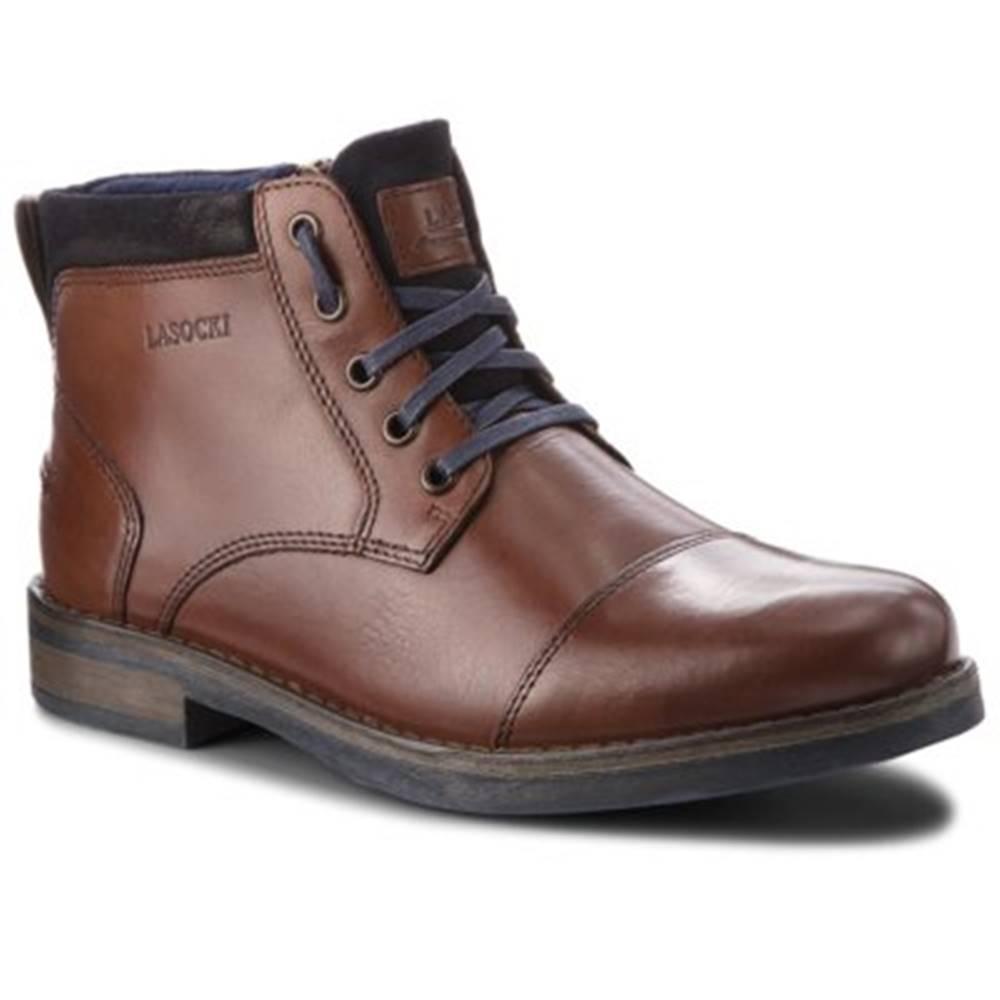 Šnurovacia obuv Lasocki for men MB-GORAN-01 Prírodná koža(useň) - Zamš