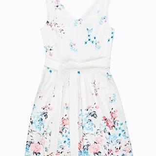 Šaty bez rukávov s kvetinovou potlačou