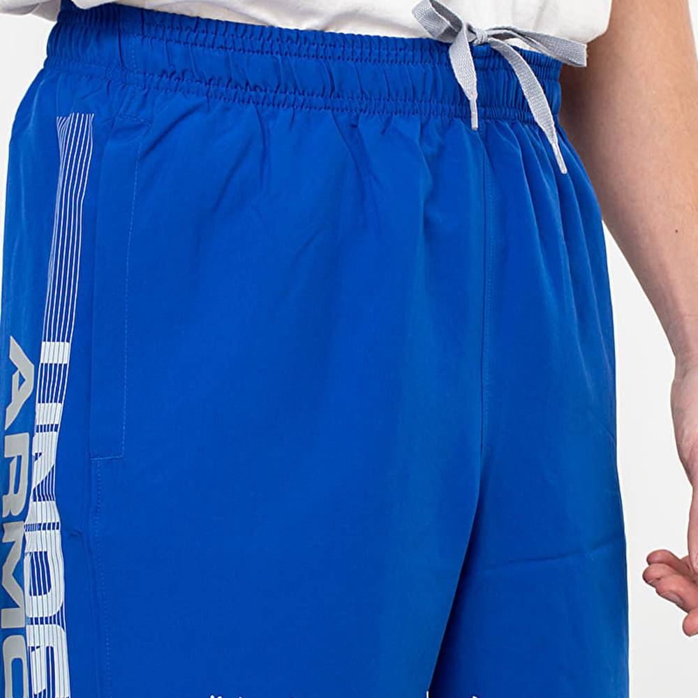 Under Armour Woven Graphic Wordmark Shorts Royal/ Steel