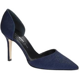 Lodičky Leonardo Shoes  17141 PLISSE BLU T 2960 F DESY