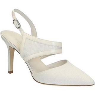 Lodičky Leonardo Shoes  S2712 PLISSE AVORIO CAPRETTO SETA T 2960 F