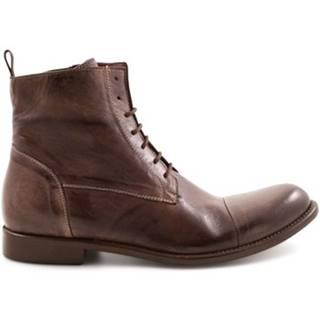 Polokozačky Leonardo Shoes  2463/8 WENGE