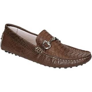 Mokasíny Leonardo Shoes  504 COCCO MARRONE PIOLI
