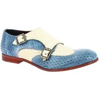 Mokasíny Leonardo Shoes  32903/3 PAPUA CART. ZUCCHERO LINO