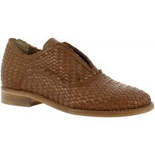 Mokasíny Leonardo Shoes  S106 KONS TORTORA