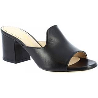 Šľapky Leonardo Shoes  438 NAPPA NERO