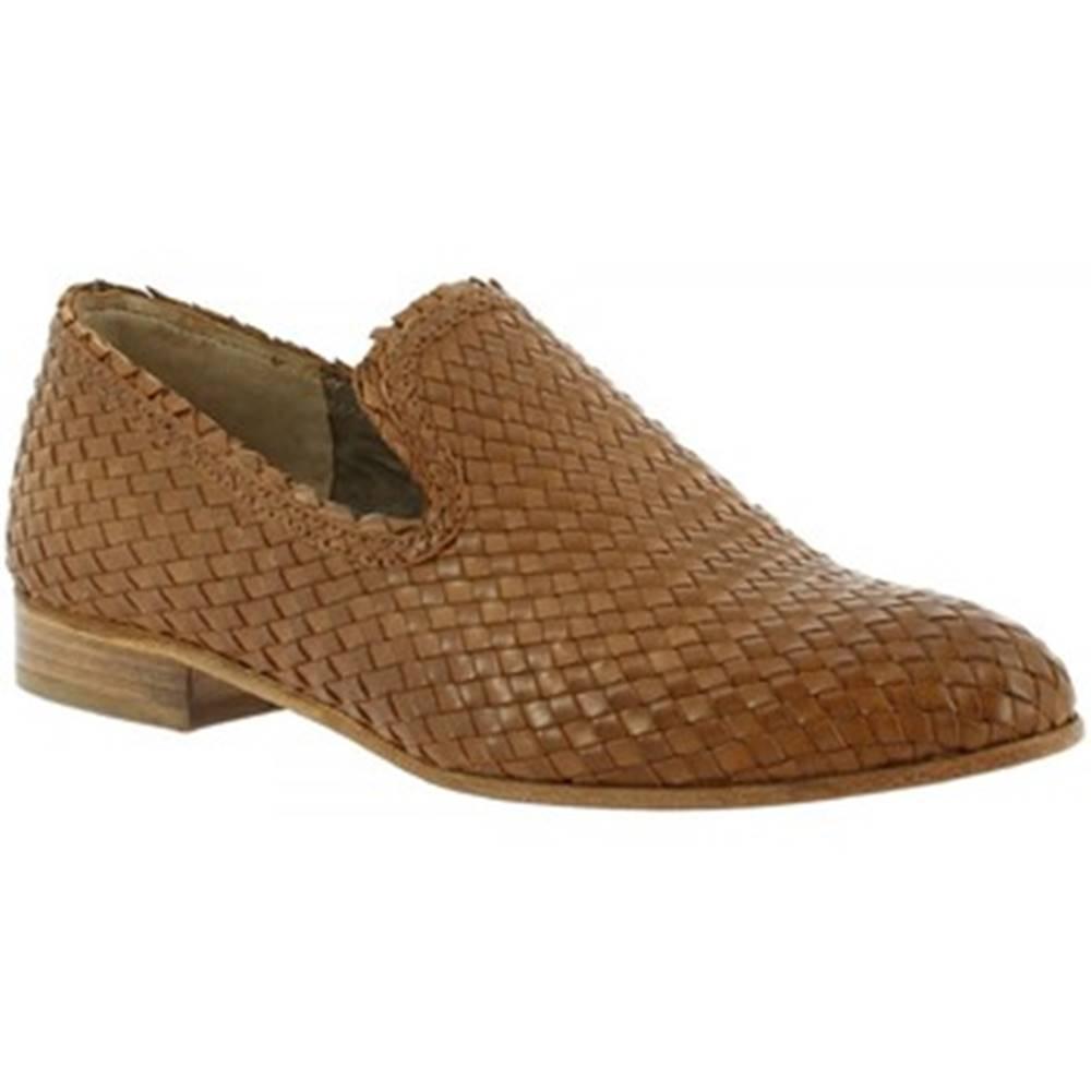 Mokasíny Leonardo Shoes  S064/F KONS TORTORA