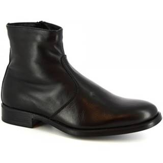 Polokozačky Leonardo Shoes  248-5135 BUTTER CALF NERO
