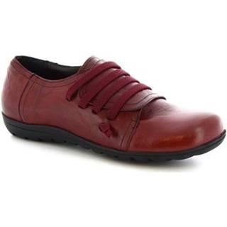 Derbie Leonardo Shoes  4530 STROPICCIATO BORDEAUX